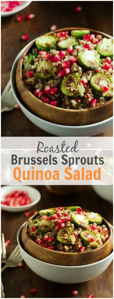 Roasted Brussels Sprouts Quinoa Salad | Brussels sprouts, Quinoa and ...