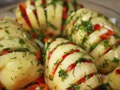 Patatas ralladas asadas con pimiento rojo. #cocina #5ingredientes #recetas #5Cook
