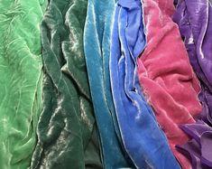 Spring Colors Sample Set - Hand Dyed Silk Velvet Fabric - Each Vintage Bedspread, Silk Taffeta, Silk Pajamas, Spring Colors, Gorgeous Fabrics, Material Girls, Vintage Buttons, Fabric Samples, Fabric Decor