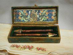 Decoración. Caja colección antiguedades flechas. por Saramanus