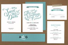 hand lettered wedding invitations by Molly Jacques