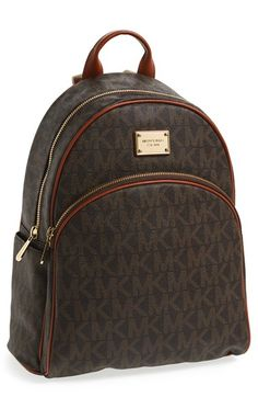 Free shipping and returns on MICHAEL Michael Kors 'Large' Backpack at Nordstrom.com. Allover logo print and polished, workwear-inspired hardware lend cosmopolitan edge to a streamlined backpack crafted with spacious interior pockets to stow and organize your tech.