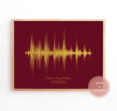 Sound Wave Art, Personalise Soundwave Art Print, Custom Wall Art, custom Soundwave, Soundwave Print Nature Sounds, Wave Art, Gold Print, Sound Waves, Custom Wall, Color Themes, That Way, Fathers Day Gifts
