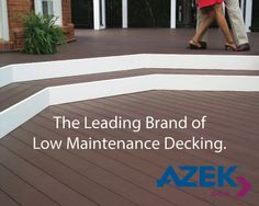 With AZEK Deck, you can rest assured your deck will continue to look great for years to come. Stain resistant, scratch resistant, split resistant, mold and mildew resistant, durable and long lasting, impervious to moisture and insects and limited lifetime warranty. Please contact us for more information. (810) 364-7900 - www.ladukeconstruction.com Composite Decking, Outdoor Living, Outdoor Decor, Mold And Mildew, Decks, Looks Great, Insects, Rest, Yard