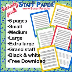 Staff Paper Variety Pack for Students