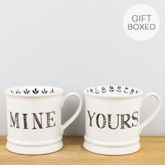 Tankard Mine & Yours Ceramic Mug Set by Creative Tops