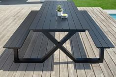 Welded Furniture, Iron Furniture, Steel Furniture, Garden Furniture, Outdoor Furniture, Metal Picnic Tables, Diy Picnic Table, Outdoor Tables, Outdoor Decor