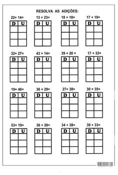 2 Digit Addition without Regrouping Worksheets First Grade, Second Grade, Singapore Math, School Worksheets, Math For Kids, Addition And Subtraction, Kindergarten Math, Math Centers, Homeschool