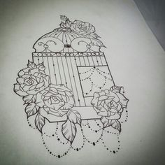 Bird cage tattoo design for tomorrow.