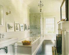 Love the elegance of this bathroom. James & Whitney Fairchild. House & Garden Magazine, June 2004.