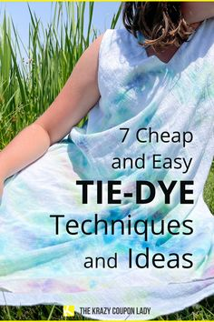 If you're looking for DIY tie-dye patterns, you should check out these easy and cheap tie dye ideas and techniques from The Krazy Coupon Lady. We're all about cheap DIYs for kids and the whole family and this is the perfect easy craft project that can be done outdoors to minimize the mess or indoors as a rainy day activity. From bleach tie-dye to ice tie dye to reverse tie dye- we've got the tie dye hacks you're searching for and how to use Dollar Tree craft supplies to save money doing it! Ice Tie Dye, Tie Dye Kit, How To Tie Dye, Tie Dye Supplies, Craft Supplies, Powder Dye, Reverse Tie Dye, Tie Dye Techniques