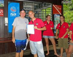Chris Lewis receives his certificate of successful completion after his July 2013 IE :)