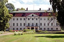 Almnas Castle (Almnas Slott) is a chateau in the province of Vastergotland, South-West Sweden, 5 km south of the town of Hjo. The mansion was built in 1773-1776 by General Wolter Reinhold Stackelberg.