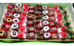 Snoep Sushi of Candy Sushi. Leuk voor een kinderfeestje of traktatie!