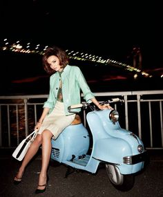 Flirty Fifties  Model: Miranda Kerr  Photographer: Terry Richardson  Fashion Editor: Brana Wolf    Harper's Bazaar US, April 2012