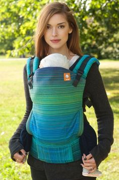 7082f888624a Half Toddler Size WC Carrier - Lucian (Peacock Weft) Wrap Conversion - Baby  Tula