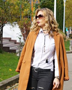 #falloutfit Fall Outfits, Duster Coat, My Style, Lady, Heels, Jackets, Fashion, Heel, Down Jackets