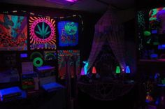 black light apartment decor - Google Search