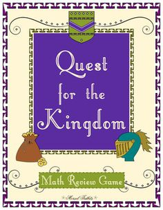 You might start off as a lowly serf in the medieval hierarchy, but have no fear! You can earn badges and level up by working hard at math review assignments! Make it to the level Monarch and you have the chance to command the whole class!Quest for the Kingdom is a 3rd grade math review for the end of the year.