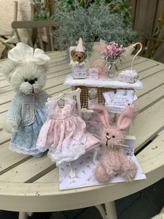 Excited to share this item from my shop: Baby girl by shaz bear mohair bear artist Cute Bears, Australian Artists, Teddy Bears, Hand Sewing, Bunnies, Doll Clothes, Objects, Etsy Shop, Dolls