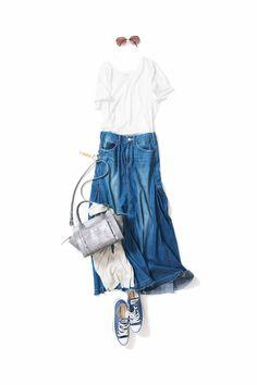k k closet Xl Fashion, Denim Fashion, Look Fashion, Daily Fashion, Fashion Outfits, Womens Fashion, Japanese Outfits, Japanese Fashion, Classy Outfits