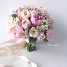 Flowers Bouquet Bridesmaid Peonies 46 Ideas For 2019 Wedding Bridesmaid Bouquets, Bridal Bouquet Pink, Bride Bouquets, Floral Bouquets, Bridesmaid Ideas, Pink Peonies, Pink Flowers, Wedding Themes, Flower Decorations