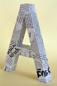 Decora tu hogar con letras de cartón y tela   Aprender manualidades es facilisimo.com