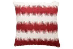 Stripe 20x20 Pillow, Burgundy on One Kings Lane today