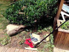 Get some shade this summer by installing a shade sail #diy #shadesail
