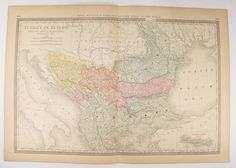 Antique Map Turkey in Europe Map, 1881 Rand McNally Map Balkan Peninsula, Rumania Map Serbia Bosnia Map, Gift for Traveler, Gift Under 50 available from OldMapsandPrints.Etsy.com #TurkeyInEurope #1881RandMcNallyMapofTurkeyInEurope #BalkanPeninsula