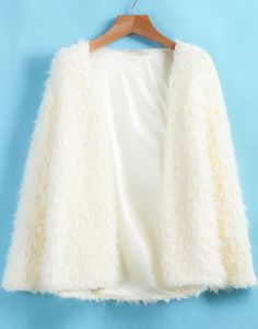 Shop Ivory Long Sleeve Loose Plush Cardigan online. Sheinside offers Ivory Long Sleeve Loose Plush Cardigan & more to fit your fashionable needs. Free Shipping Worldwide!