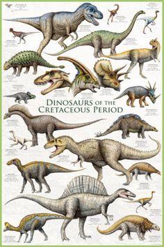 #1 Dinosaurs Before Dark: Dinosaurs - Cretaceous Period Poster