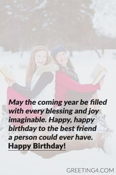Short Birthday Wishes & Messages For Best Friend - Celebrities Photos, Images, Wallpapers, Wishes & Messages Birthday Wishes Best Friend, Short Birthday Wishes, Happy Birthday Best Friend Quotes, Happy Birthday Text, Birthday Wishes Messages, Sister Birthday Quotes, Birthday Verses, Birthday Greetings, Birthday Captions