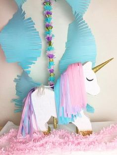 Piñata de unicornio decorativo personalizado
