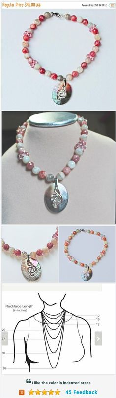 On Sale Pink Beaded Necklace, Sunstone beads mined in the USA, Oregon Sunstone Choker, Mother of Pearl G Clef Charm, Swarovski Beads, Gift F https://www.etsy.com/BEADEDNECKLACESHOPPE/listing/240067304/on-sale-pink-beaded-necklace-sunstone?ref=listing-shop-header-0
