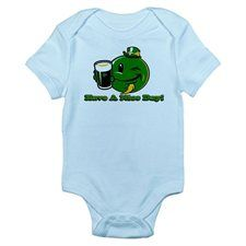 Infant Bodysuit Irish Have a Nice Day Smiley Face Beer St Patrick's Day Clover Shamrock
