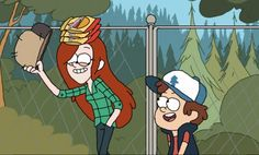 """Here's one of Wendy Corduroy and Dipper Pines from the episode """"The Deep End"""". I really liked this scene and this episode, also I felt like drawing her . Wendy and Dipper Gravity Falls Wiki, Gravity Falls Dipper, Dipper And Wendy, Wendy Corduroy, Best Cartoons Ever, Dipper Pines, Cartoon Profile Pics, Disney Xd, Cartoon Characters"""