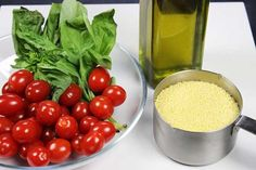 Mediterranean Style Couscous with Roasted Tomatoes--so easy and quick!