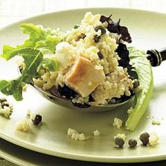 Feta-Chicken Couscous Salad with Basil | MyRecipes.com
