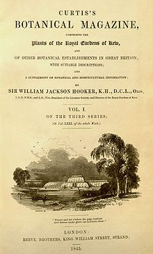 The Botanical Magazine; or Flower-Garden Displayed, is an illustrated publication which began in 1787. The longest running botanical magazine, it is widely referred to by the subsequent name Curtis's Botanical Magazine.