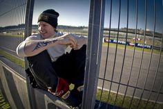 a rare smile from the iceman, Kimi Räikkönen.
