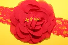 Red Eden Collection Flower by LilyNRoseHeadbands, Baby Headbands, Lily, Rose, Flowers, Stuff To Buy, Collection, Fashion, Moda, Pink