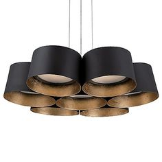 Percussive perfection. The Modern Forms Marimba LED Pendant clusters seven steel drum shades into one fascinating fixture. Each shade