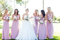pink bridesmaids // chris and kristen photography