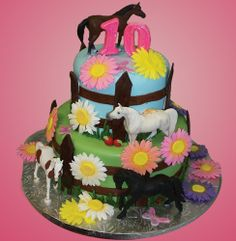 Horse Cake for Equestrian Themed Birthday Party, by Johnson's Custom Cakes & More http://www.johnsonscustomcakes.com/portfolio/birthday-cake-allery/