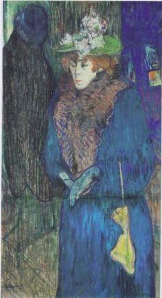 Jane Avril enter the Moulin Rouge - Henri de Toulouse-Lautrec 1892