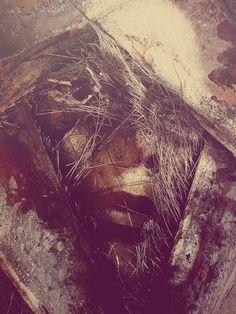 Textured portraits by Michal Mozolewski - Bleaq Street Art, Make Funny Faces, Creepy Pictures, Art Courses, Digital Portrait, Texture Art, Illustrations, Photo Manipulation, Art Drawings