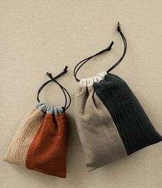 DIY colorblock drawstring pouch