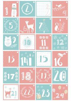 Szukasz kalendarza adwentowego? Dobrze trafiłaś! Odliczanie dni do świąt ułatwi kalendarz adwentowy do druku. Pobierz go z mojego bloga. Diy Paper, Paper Crafts, Advent Calenders, Xmas Cards, Kids And Parenting, Merry Christmas, Bullet Journal, Decor, Xmas