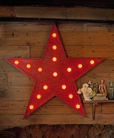 Large Red Reclaimed Wooden Star, the Mint List Lights Fantastic, Wooden Stars, Interior Design Services, Vintage Inspired, Mint, Lighting, Projects, Inspiration, Log Projects